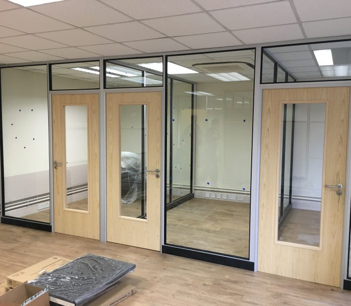 Glass Partitioning for The Hubb Nottingham