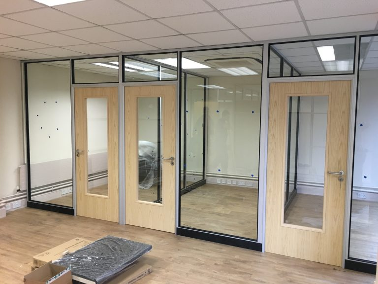 Glass Partitioning for The Hubb, Nottingham