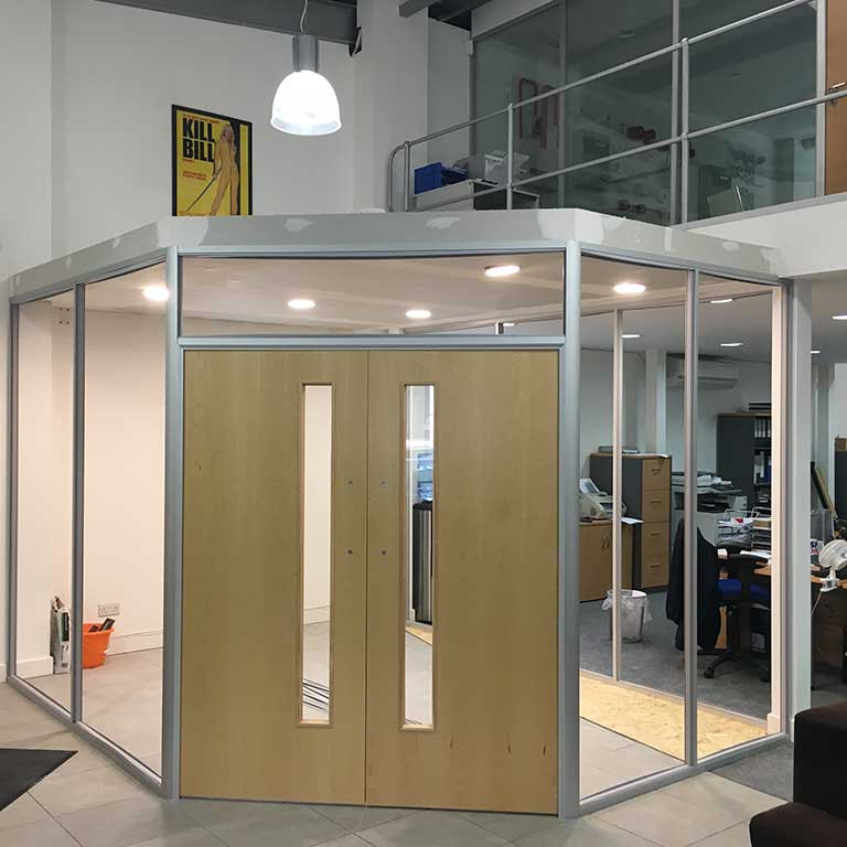 Glass Partition Meeting Room for Clymac Loughborough