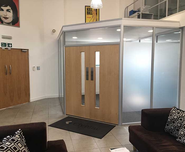 Glass Meeting Room Partition Clymac Loughborough